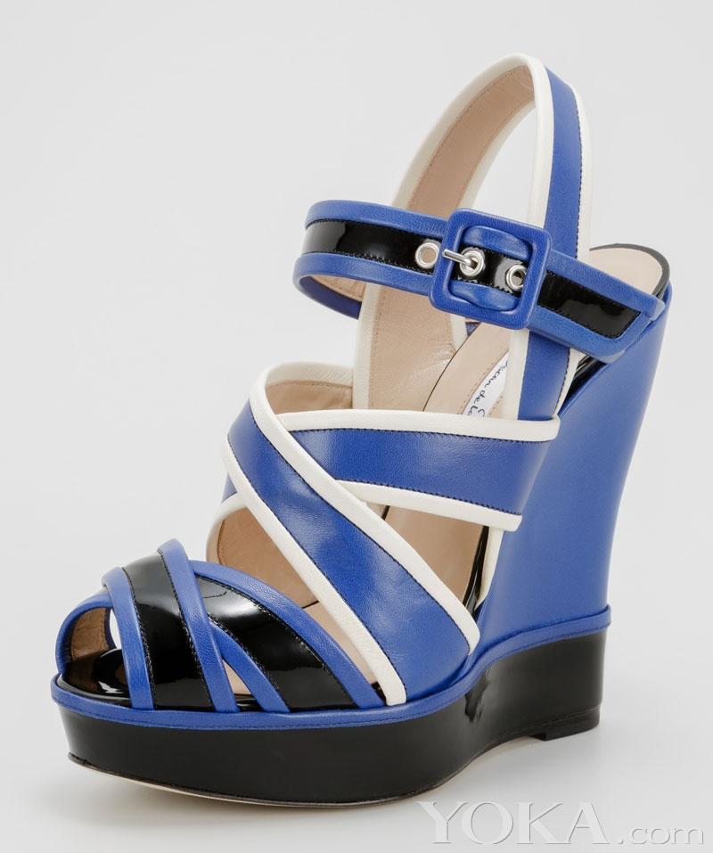 时尚 坡跟鞋/坡跟鞋...
