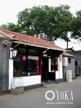 咖啡馆门口