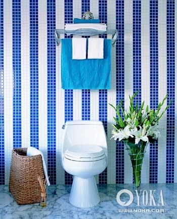 冬季卧室与浴室的蓝白调换装