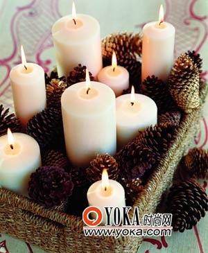 低调圣诞烛筐