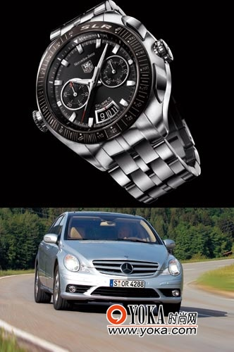 350 VS 豪雅梅赛德斯-奔驰SLR跑车表-名表VS名车 跨界阵线联盟 钟